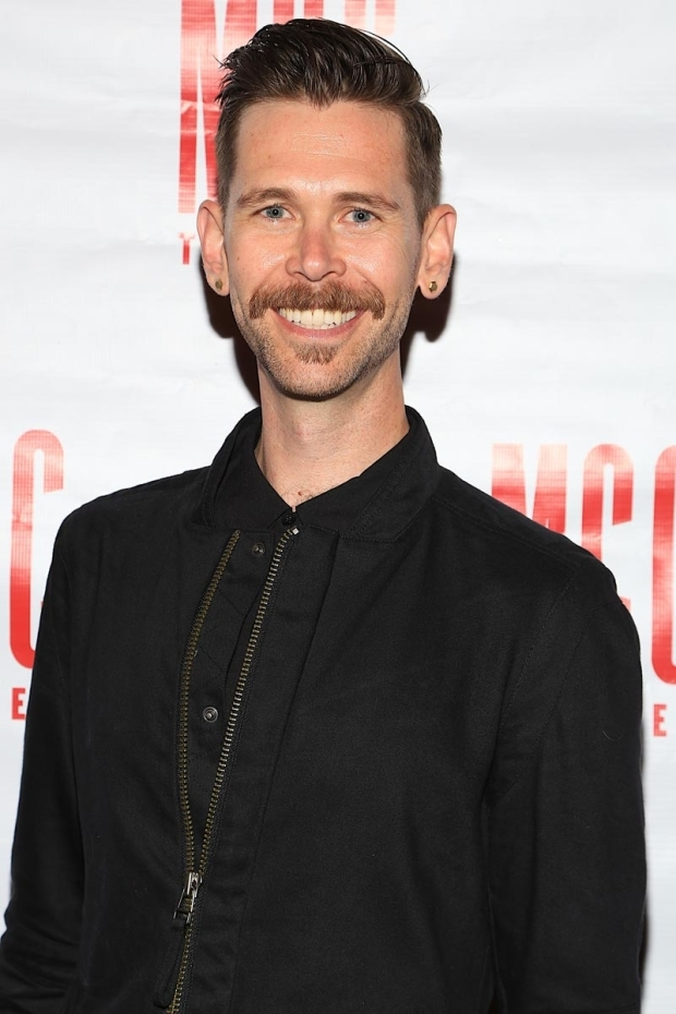 <p>Playwright Philip Dawkins wore a big smile for opening night.</p><br />(© Tricia Baron)