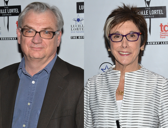<p>Playwright Richard Nelson and producer Robyn Goodman were both honored at the ceremony.</p><br />(© David Gordon)