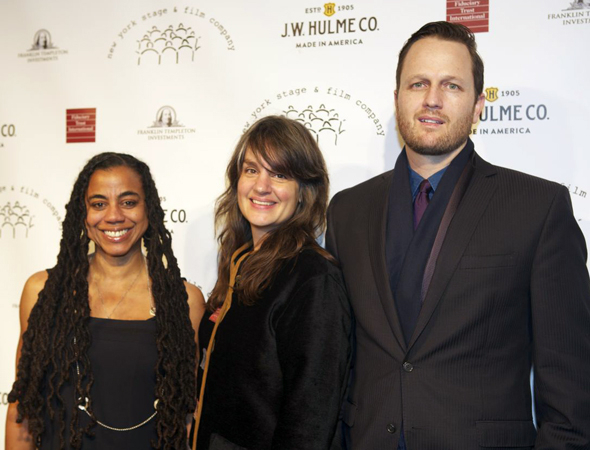 <p>Playwright Suzan-Lori Parks, director Pam MacKinnon, and composer/lyricist Todd Almond are all alums of New York Stage and Film.</p><br />(© Christopher Gower Johnson)
