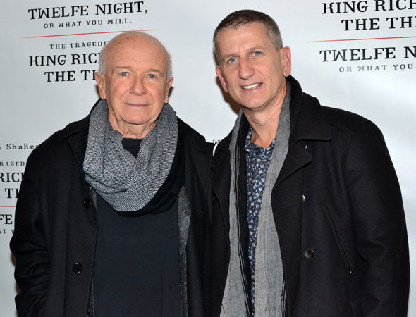 <p>Playwright Terrence McNally and his husband, producer Tom Kirdahy, spend their Sunday at the theater.</p><br />(© David Gordon)