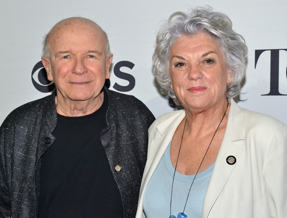 <p>Playwright Terrence McNally and star Tyne Daly are on hand to represent Broadway&#39&#x3B;s <em>Mothers and Sons</em>.</p><br />(© David Gordon)