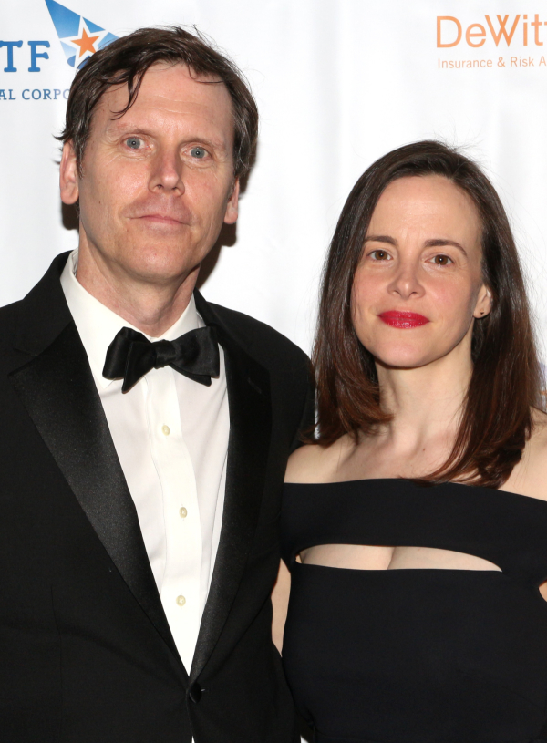 <p>Playwright Will Eno (seen here with his wife, actress Maria Dizzia) presented the Theatre Artist Award to his <em>Realistic Joneses</em> star, Michael C. Hall.</p><br />(© David Gordon)