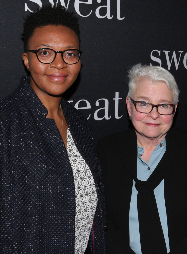 <p>Playwrights Christina Anderson and Paula Vogel are thrilled to be on hand for Lynn Nottage&#39&#x3B;s Broadway debut.</p><br />(© David Gordon)