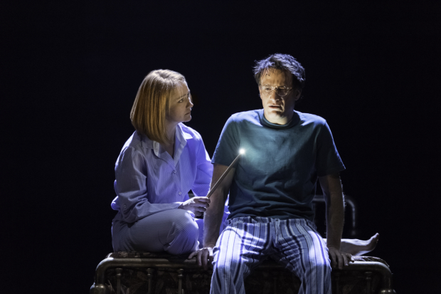 <p>Poppy Miller as Ginny Potter and Jamie Parker as Harry Potter in <em>Harry Potter and the Cursed Child</em>.</p><br />(© Manuel Harlan)