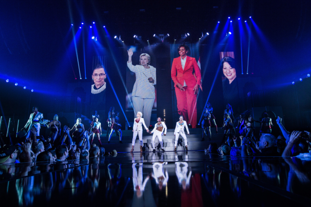 <p>Powerful women loomed large during the Feminist Studies portion of the evening.</p><br />(© Evan Zimmerman)