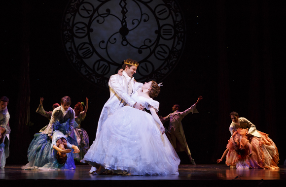 <p>Prince Topher and Cinderella only have eyes for each other.</p><br />(© Carol Rosegg)