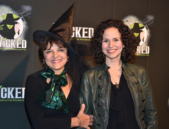 <p>Priscilla Lopez, in a witch&#39&#x3B;s hat, joins her <em>In the Heights</em> daughter, Mandy Gonzalez, who is one of the production&#39&#x3B;s former Elphabas.</p><br />(© David Gordon)