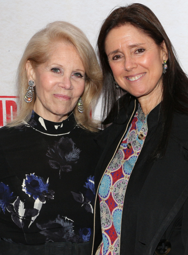 <p>Producer Daryl Roth and Tony Award-winning director Julie Taymor stop for a photo.</p><br />(© David Gordon)