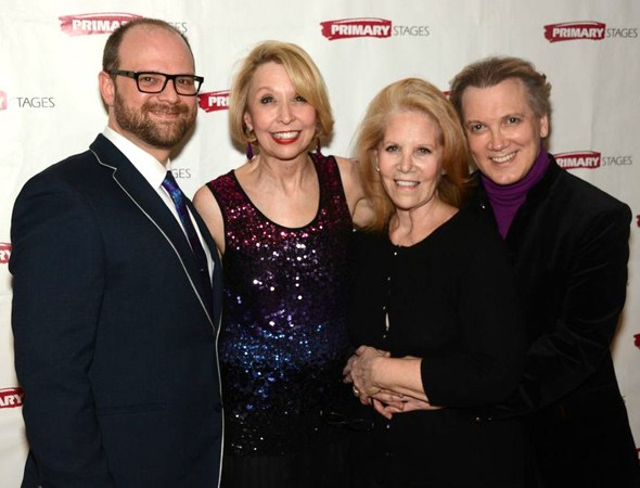 <p>Producer Daryl Roth shares a photo with director Carl Andress and performers Julie Halston and Charles Busch.</p><br />(© Nessie Nankivell)