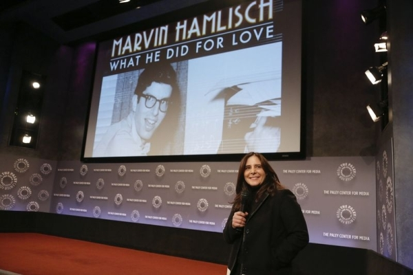 <p>Producer Dori Berinstein makes a few introductory remarks.</p><br />(© Heidi Gutman)