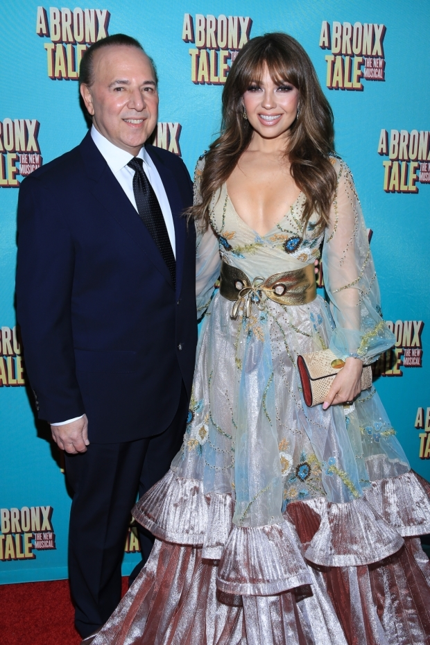 <p>Producer Tommy Mottola with Mexican singer Thalía.</p><br />(© Tricia Baron)