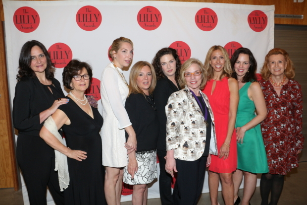 <p>Proud members of the Lilly Awards board of directors walk the red carpet.</p><br />(© David Gordon)