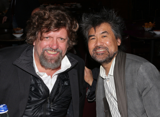 <p>Public Theater artistic director Oskar Eustis received a special citation presented by playwright David Henry Hwang.</p><br />(© David Gordon)