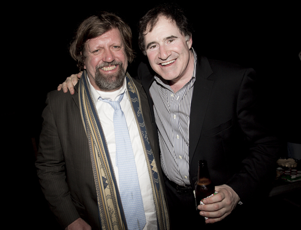 <p>Public Theater Artistic Director Oskar Eustis shares a photo with actor Richard Kind.</p><br />(© Daniel Terna)