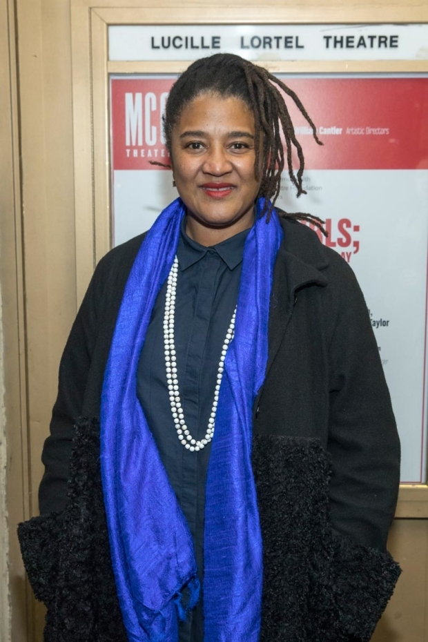 <p>Pulitzer Prize winner Lynn Nottage was ready to take in the show.</p><br />(© Simon Luethi)
