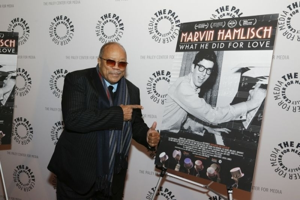 <p>Quincy Jones, who lends his candid comments to the film, points to his main man.</p><br />(© Heidi Gutman)