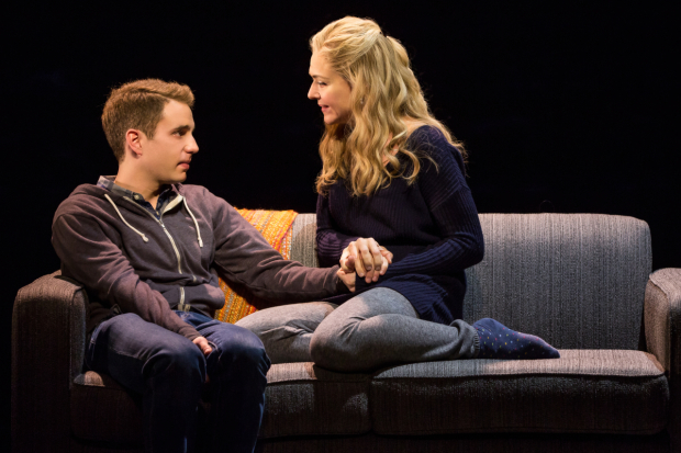 <p>Rachel Bay Jones plays mother to Ben Platt&#39&#x3B;s troubled teenager.</p><br />(© Matthew Murphy)