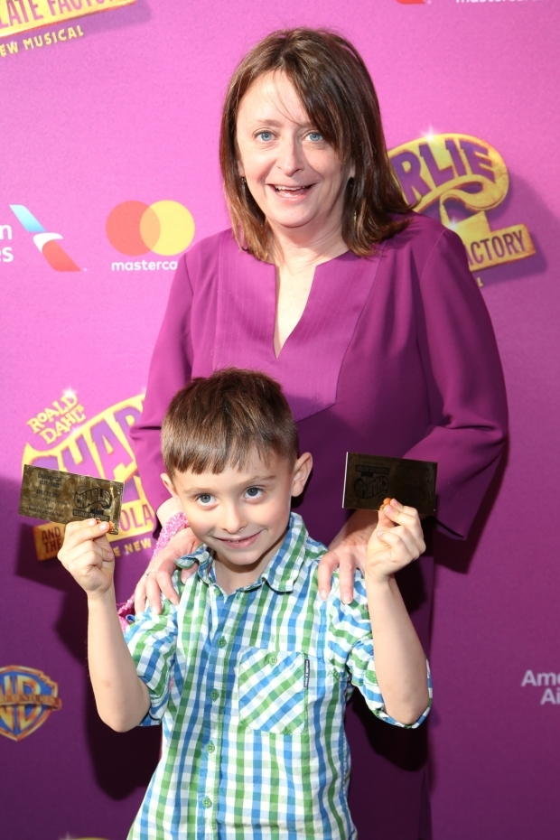 <p>Rachel Dratch brings along her son for the show.</p><br />(© Tricia Baron)