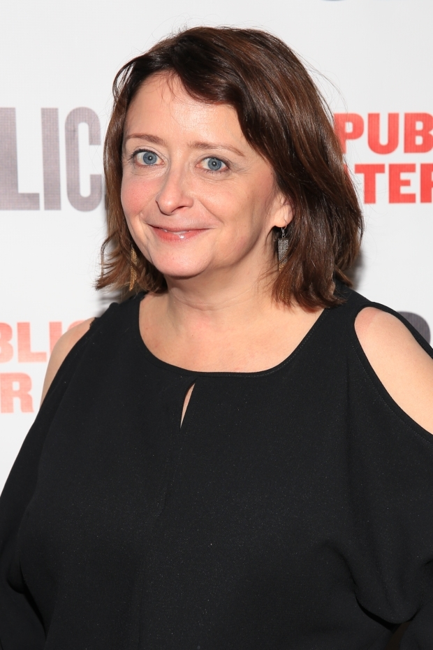 <p>Rachel Dratch is a guest at the <em>Tiny Beautiful Things</em> opening.</p><br />(© Tricia Baron)