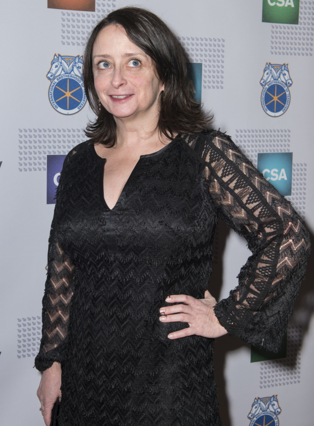 <p>Rachel Dratch is thrilled to attend the Artios Awards.</p><br />(© Allison Stock)