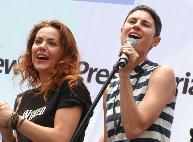 <p>Rachel Tucker and Beth Malone join in on &quot&#x3B;What the World Needs Now is Love.&quot&#x3B;</p><br />(© David Gordon)
