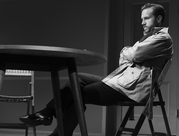 <p>Rafe Spall completes the trio as Jerry, a literary agent having an affair with Emma.</p><br />(© Brigitte Lacombe)