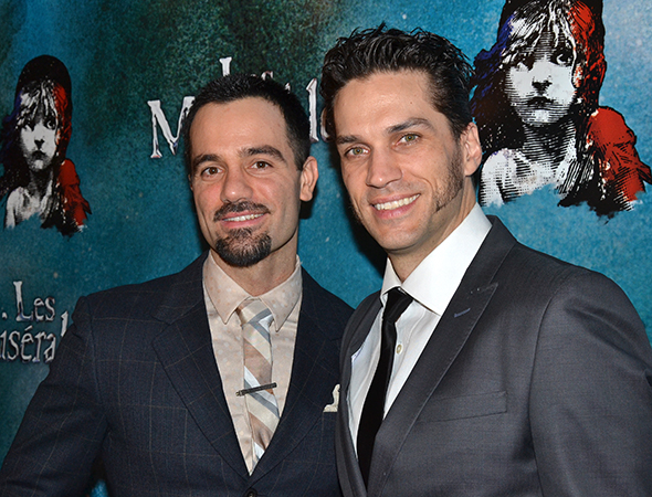 <p>Ramin Karimloo and Will Swenson lead the company as Jean Valjean and Inspector Javert, respectively.</p><br />(© David Gordon)