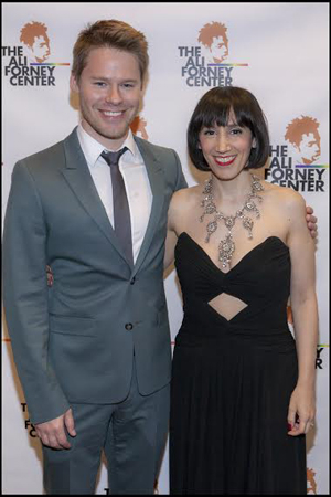 <p>Randy Harrison and Gabrielle Stravelli smile for the cameras.</p><br />(© Christopher Gagliardi)