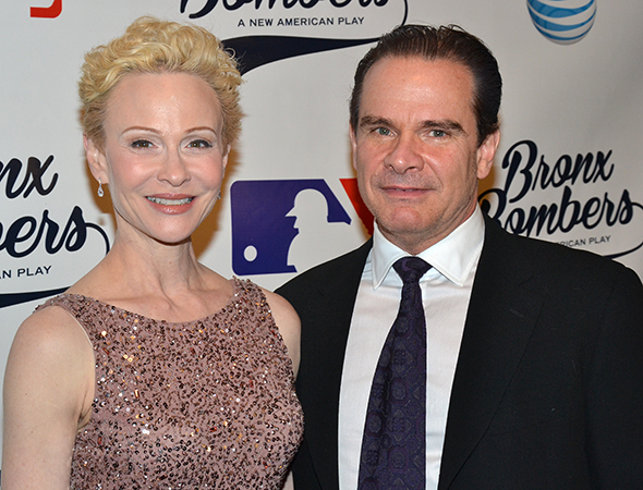 <p>Real-life couple Tracy Shayne and Peter Scolari lead the cast of <em>Bronx Bombers</em> as Carmen and Yogi Berra.</p><br />(© David Gordon)