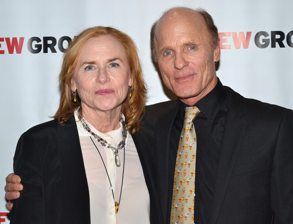<p>Real-life married couple Amy Madigan and Ed Harris lead the company of <em>The Jacksonian</em> as estranged spouses Susan and Bill.</p><br />(© David Gordon)