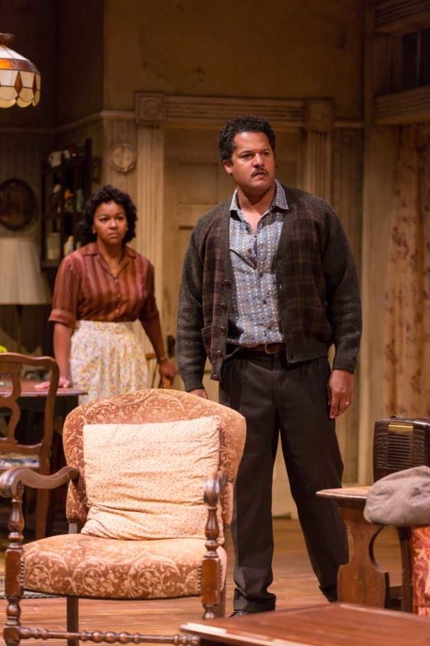 <p>Real-life spouses Crystal A. Dickinson and Brandon J. Dirden play Ruth and Walter Lee Younger.</p><br />(© T. Charles Erickson)