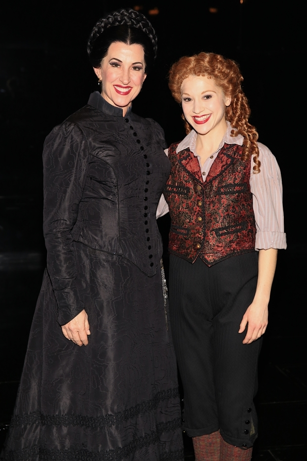 <p>Rebecca Eichenberger and Kara Klein play Madame Giry and Meg Giry.</p><br />(© Tricia Baron)