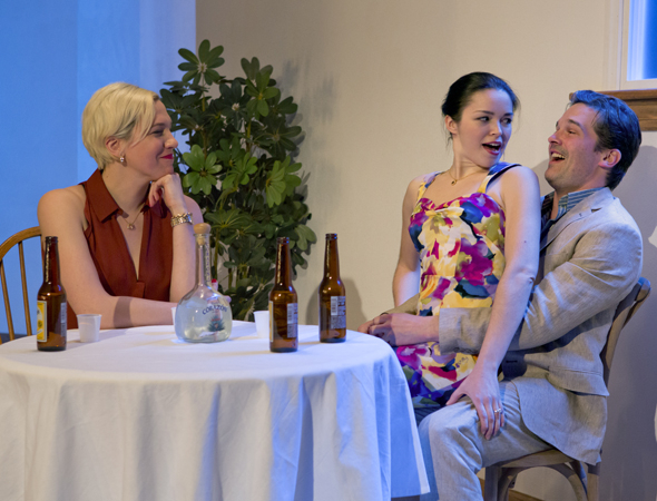 <p>Rebecca Henderson, Zoë Sophia Garcia, and Chris Stack onstage in <em>Your Mother&#39&#x3B;s Copy of the Kama Sutra</em>.</p><br />(© Jeremy Daniel)