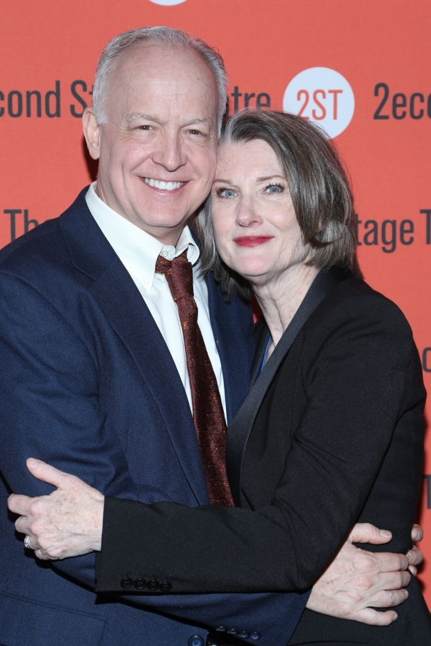 <p>Reed Birney and Annette O&#39&#x3B;Toole, who play husband and wife onstage, pose for a picture.</p><br />(© Tricia Baron)
