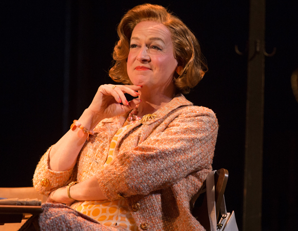 <p>Reed Birney as Charlotte in <em>Casa Valentina</em> at the Samuel J. Friedman Theatre.</p><br />(© Matthew Murphy)