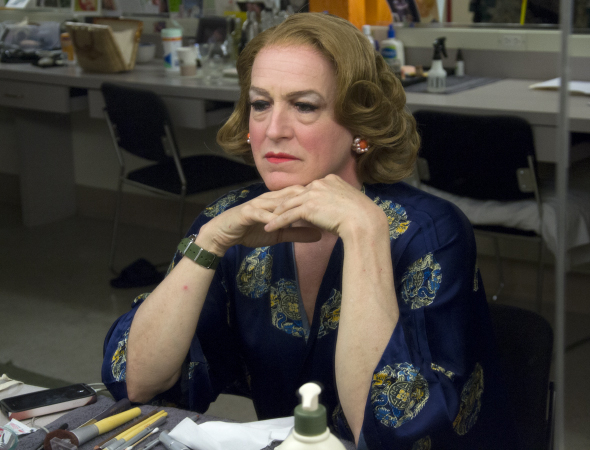 <p>Reed Birney as Charlotte, in his dressing room.</p><br />(© David Gordon)