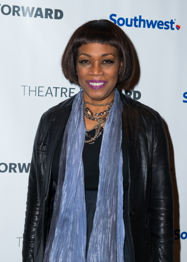 <p>Regina Taylor stopped for a photo.</p><br />(© Allison Stock)