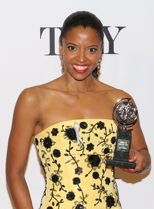 <p>Renée Elise Goldsberry, Best Actress in a Featured Role in a Musical winner for <em>Hamilton</em>.</p><br />(© David Gordon)
