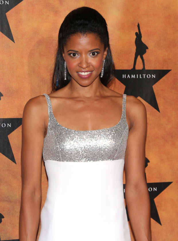 <p>Renée Elise Goldsberry received Lucille Lortel and Drama Desk Awards for her performance as Angelica Schuyler.</p><br />(© David Gordon)