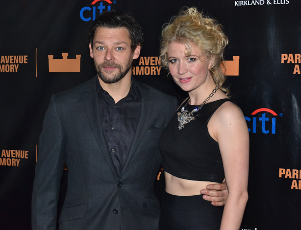 <p>Richard Coyle and Scarlett Strallen take on the roles of Macduff and Lady Macduff.</p><br />(© David Gordon)