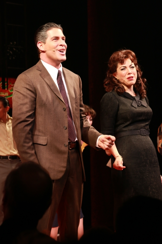 <p>Richard H. Blake and Lucia Giannetta play Calogero&#39&#x3B;s parents, Lorenzo and Rosina.</p><br />(© Tricia Baron)