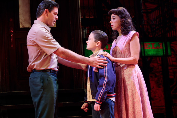 <p>Richard H. Blake, Will Coombs, and Lucia Giannetta share a scene.</p><br />(© Joan Marcus)