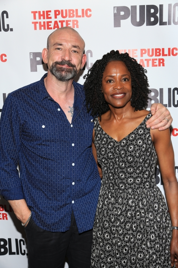 <p>Ritchie Coster and Charlayne Woodard plays Claudius and Gertrude.</p><br />(© Tricia Baron)