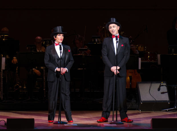 <p>Rivera and Alan Cumming perform &quot&#x3B;Nowadays&quot&#x3B; at Carnegie Hall.</p><br />(© Allison Stock)