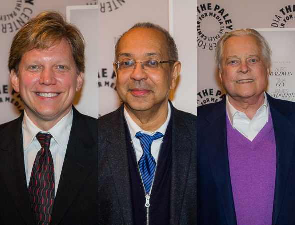 <p>Rob Bowman, George C. Wolfe, and Robert Osborne.</p><br />(© Seth Walters)