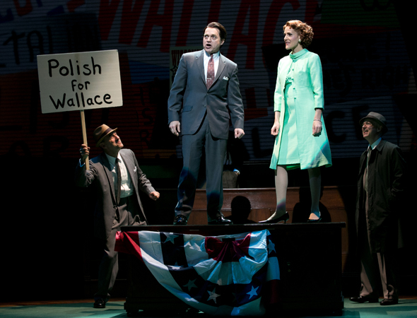 <p>Rob Campbell plays Gov. George Wallace, and Susannah Schulman plays Lurleen Wallace.</p><br />(© Evgenia Eliseeva)