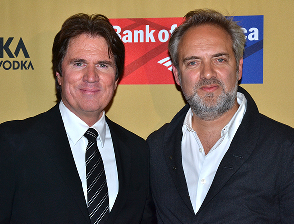 <p>Rob Marshall and Sam Mendes are the proud directors of <em>Cabaret</em>.</p><br />(© David Gordon)