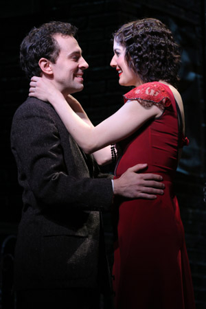 <p>Rob McClure performs opposite Bowles as poor love-struck law student Nestor Le Fripé.</p><br />(© Joan Marcus)