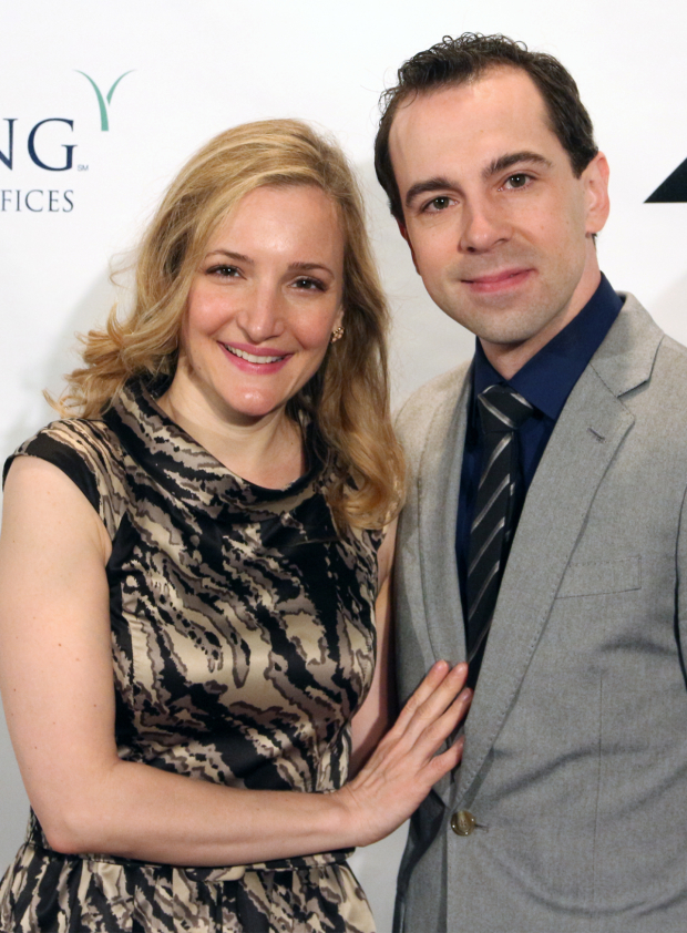 <p>Rob McClure (with his wife, Maggie Lakis) — <em>Honeymoon in Vegas</em></p><br />(© David Gordon)