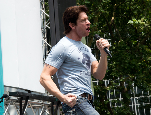 <p><em>Rocky</em> star Andy Karl performs &quot&#x3B;Fight From the Heart.&quot&#x3B;</p><br />(© David Gordon)
